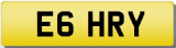 HARRY E Private Cherished Registration Number Plate HARVEY HARLEY HARRI